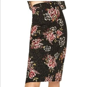 Zara Floral Lace Pencil Skirt